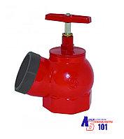 Кран пожарный КПЧ-65 угловой-чугунный (муфта-цапка)125°