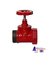 Кран пожарный КПЧП-65 прямой-чугунный (муфта-цапка)180°