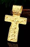 """Кулон-крестик  """"Крест позолота"""", фото 3"""