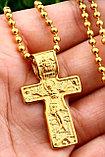 """Кулон-крестик  """"Крест позолота"""", фото 2"""