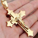 """Кулон-крестик  """"Крест позолота"""", фото 4"""