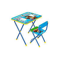 НИКА Набор мебели МАША И МЕДВЕДЬ (стол +мягкий моющийся стул) Азбука 2