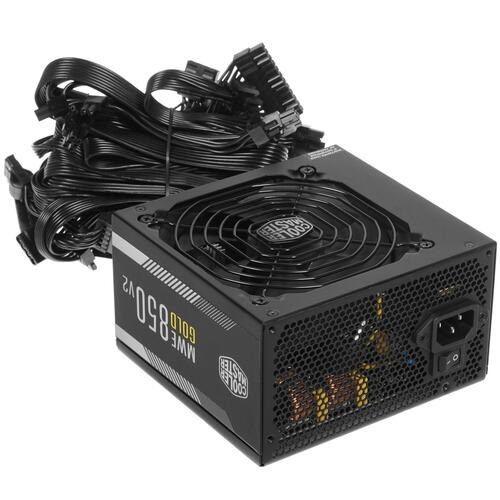 Блок питания CoolerMaster MWE GOLD 850 V2 >750W Full Modular, Active PFC, вент.12 см 80+ GOLD