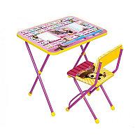 НИКА Набор мебели МАША И МЕДВЕДЬ (стол +мягкий моющийся стул) Азбука3