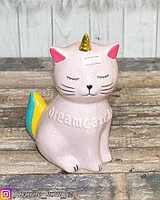 "Копилка ""Кошка"". Материал: Керамика. Цвет: Розовый."