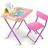 НИКА Набор мебели ПРИНЦЕССА DISNEY (стол складн.с подножк.+пенал,стул