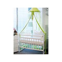 МОЙ МАЛЫШ Кровать детская 01 колесо-качалка съемная боковая стенка слоновая кость 34460 МОЙ МАЛЫШ Кровать дет