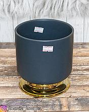 Ваза декоративная. Материал: Керамика/Металл. Цвет: Серый.