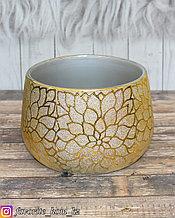 Ваза декоративная. Материал: Керамика. Цвет: Золотистый.