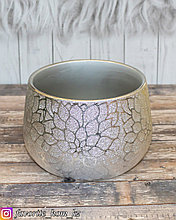 Ваза декоративная. Материал: Керамика. Цвет: Серебристый.