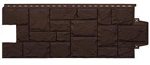 Фасадные панели Коричневый 1103х417 мм Крупный камень серия Стандарт (моноцвет)  Grand Line