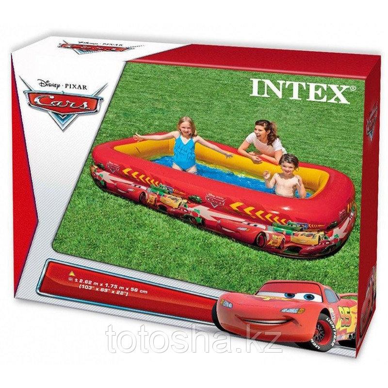 Надувной детский бассейн Cars 262х175х56 см , 57478 Intex