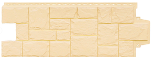 Фасадные панели Бежевая 1103х417 мм Крупный камень серия Стандарт (моноцвет) Grand Line