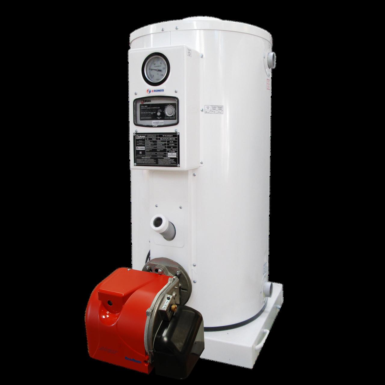 Котёл газовый Cronos BB-535 (58 кВт) для отопления и ГВС в комплекте с горелкой газовой (Южная Корея)