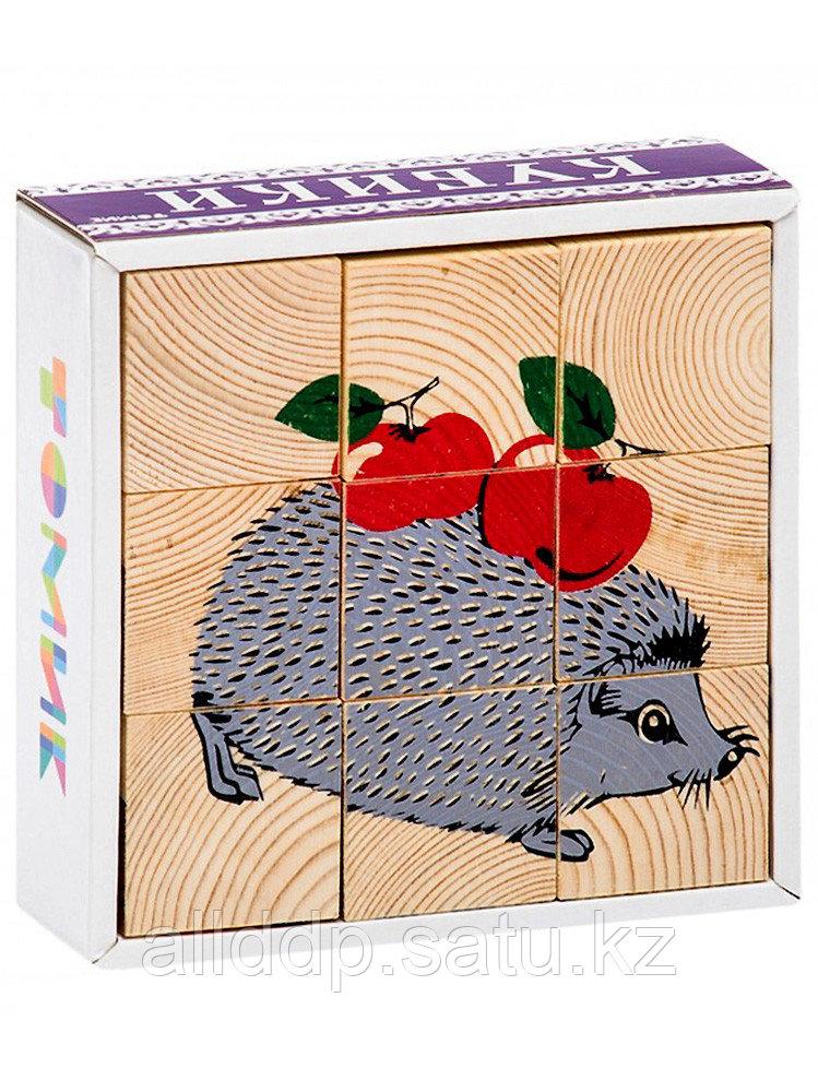 Кубики Животные леса 9 дет.4444-4 ТОМИК