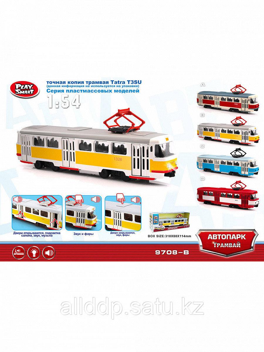 Игрушка на батарейках Трамвай ST 9708A/C