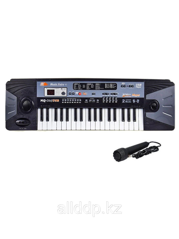 Синтезатор с микрофоном 37кл LED дисплей USB MQ-805USB