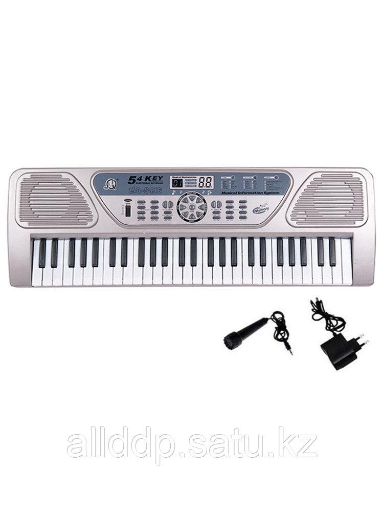 Синтезатор с микрофоном 54кл MQ-5416