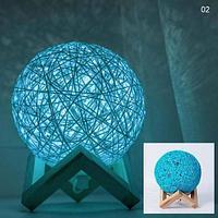 Лампа-ночник Lumen «Клубок нитей» с питанием от сети (Голубой / 1881)
