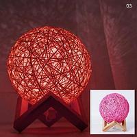 Лампа-ночник Lumen «Клубок нитей» с питанием от сети (Розовый / 1881)
