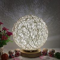 Лампа-ночник Lumen «Клубок нитей» с питанием от сети (Черный / G84)