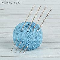 Крючки для вязания металлические «Рукодельница», d = 1-2 мм, 13,5 см, 4 шт