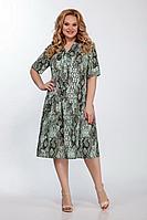 Женское летнее большого размера платье LaKona 1304 рептилия 56р.