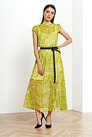Женское летнее из вискозы зеленое платье Noche mio 1.100-2 48р.