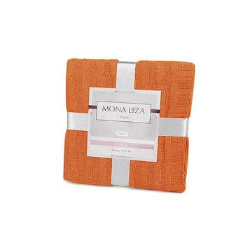 Плед вязаный Monet, размер 140 × 180 см, оранжевый