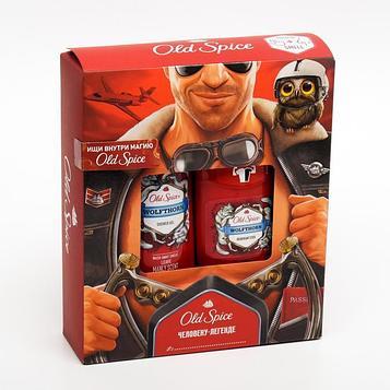 Подарочный набор Old Spice Wolfthorn: Твердый дезодорант, 50 мл, Гель для душа, 250 мл