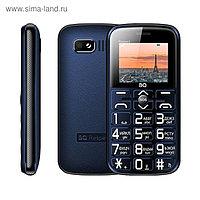 """Сотовый телефон BQ M-1851, Respect 1.77"""", 2 sim, 32Мб, microSD, 1400 мАч, синий"""