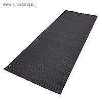 Тренировочный коврик (мат) для горячей йоги Adidas, цвет черный