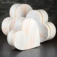 Набор коробок в форме сердца 3 в 1, 33,5 х 33 х 11,5 - 26 х 26 х 9,5 см
