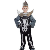 Карнавальный костюм 'Кощей Бессмертный', головной убор, костюм, плащ, р. 30, рост 122 см