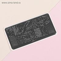 Диск для стемпинга металлический «Мрамор», 12 × 6 см