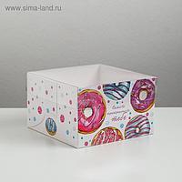 Коробка на 4 капкейка «Самого прекрасного тебе», 16 × 16 × 10 см