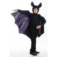Карнавальный костюм 'Летучая мышь', брюки, фуфайка, крылья, шапка, р. 30, рост 122 см