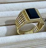 """Перстень-печатка """"Черный  Оникс"""", фото 4"""