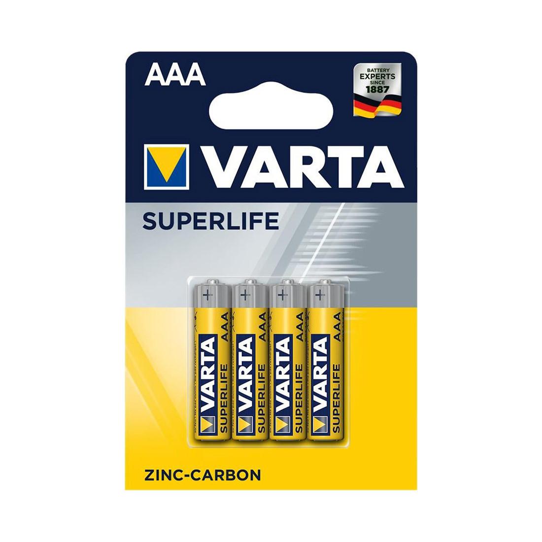 Батарейка VARTA Superlife Micro 1.5V - R03P/AAA (4 шт) (2003)