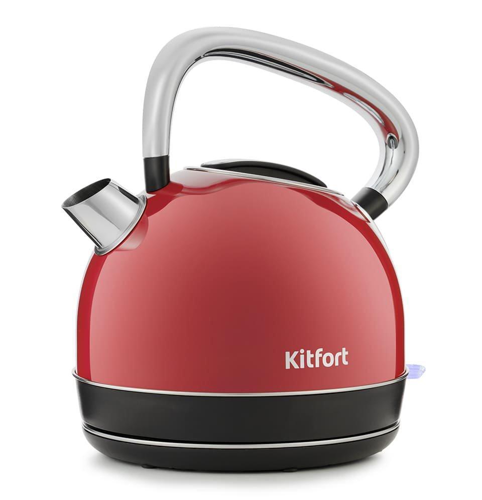 Электрический чайник Kitfort KT-696-1 красный