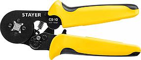 """Пресс-клещи CS-10, STAYER, 0.25-10 мм², для втулочных наконечников, серия """"Professional"""" (44447)"""