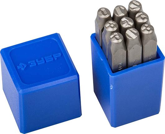 """Клейма штамповочные ЗУБР высота буквы 5 мм,(цифры) Cr-V сталь, серия """"Профессионал"""" (21501-05_z01), фото 2"""