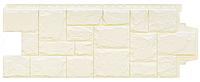 Фасадные панели Молочный 1103х417 мм Крупный камень серия Стандарт (моноцвет) Grand Line