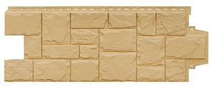 Фасадные панели Песочный 1103х417 мм Крупный камень серия Стандарт (моноцвет)  Grand Line