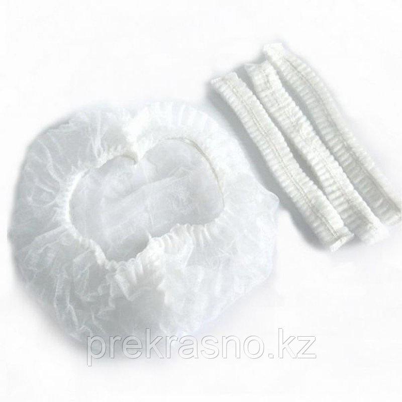 ОПТОМ! Шапочки шарлотка одноразовые белые 100шт/уп