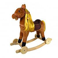 Качалка-лошадка Pituso с колёсами Коричневый