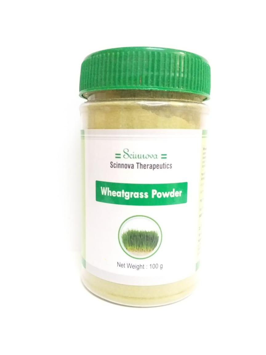 Порошок проросшей пшеницы -витграсс, 100 гр, Wheatgrass Powder, антиоксидант,  Scinnova Therapeutics