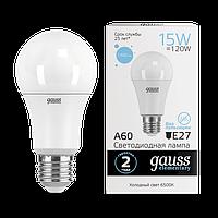 Лампа Gauss Elementary A60 15W 1480lm 6500K E27 LED
