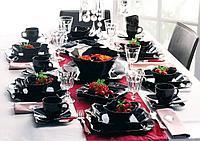 AUTHENTIC BLACK столовый сервиз на 6 персон из 18 предметов, шт