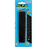 """Лезвие OLFA """"BLACK MAX"""" сегментированное, 5 шт, 25х126х0,7мм (OL-HBB-5B)"""